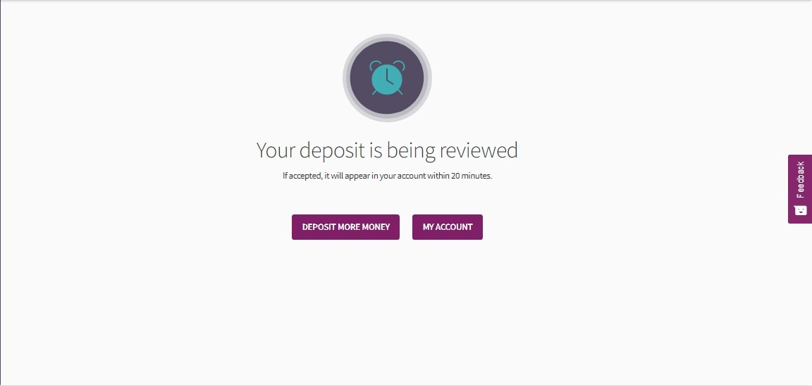 Your deposit is being reviewed