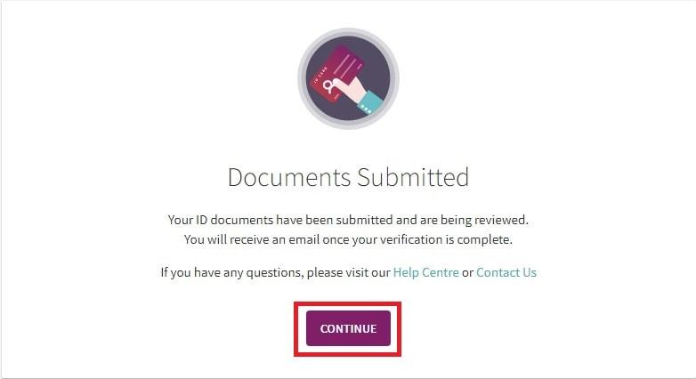 Konfirmasi dokumen Anda diserahkan