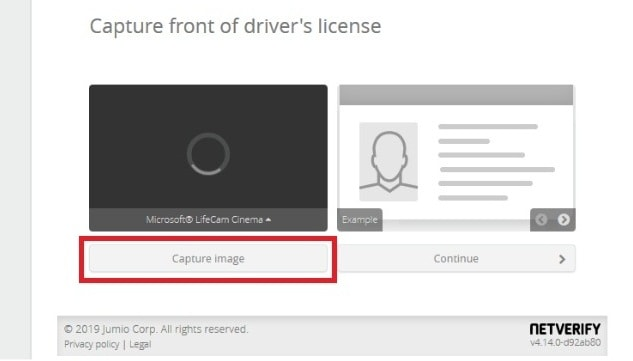Upload the front image of your ID