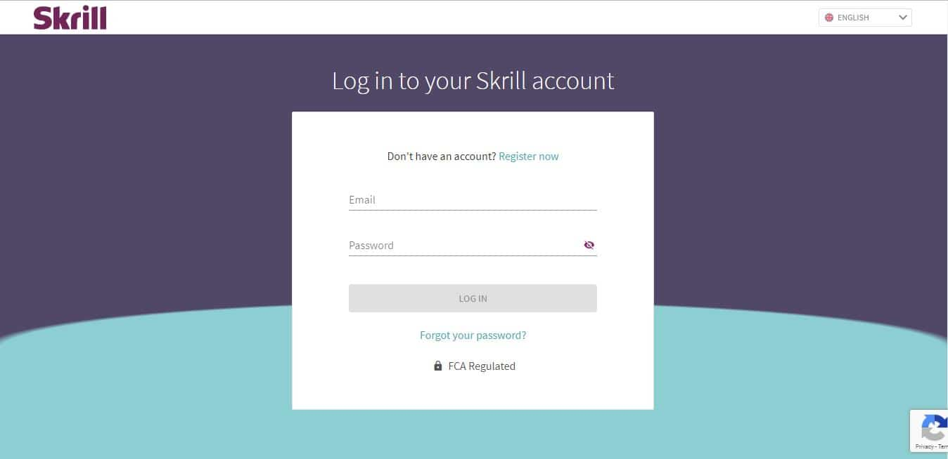 Log in your Skrill wallet account