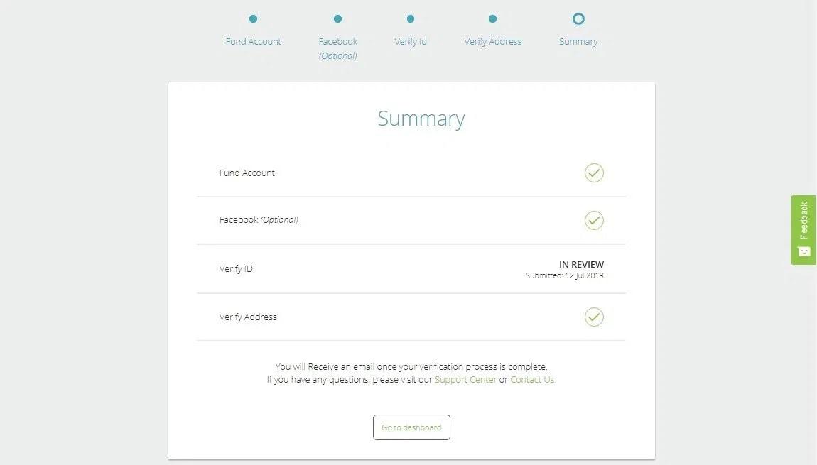 Tổng kết quá trình đăng ký tài khoản ví điện tử Neteller