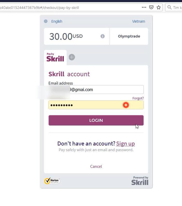 وارد حساب کیف پول الکترونیکی Skrill شوید