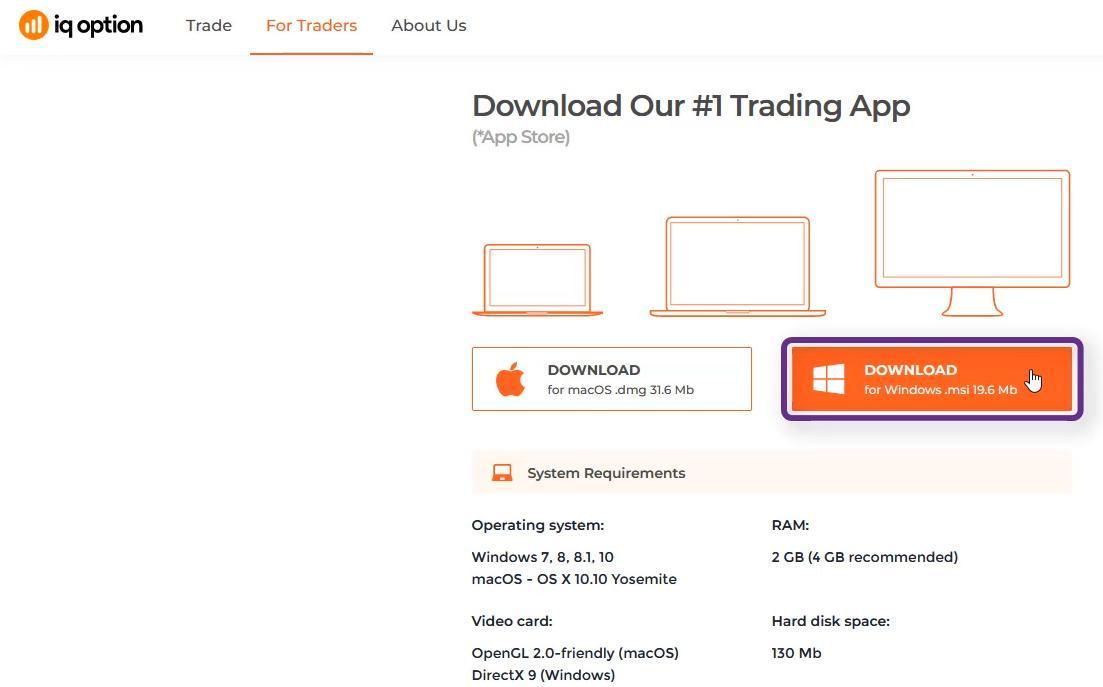 Hướng dẫn tải app IQ Option về máy tính cá nhân - Download IQ Option For PC