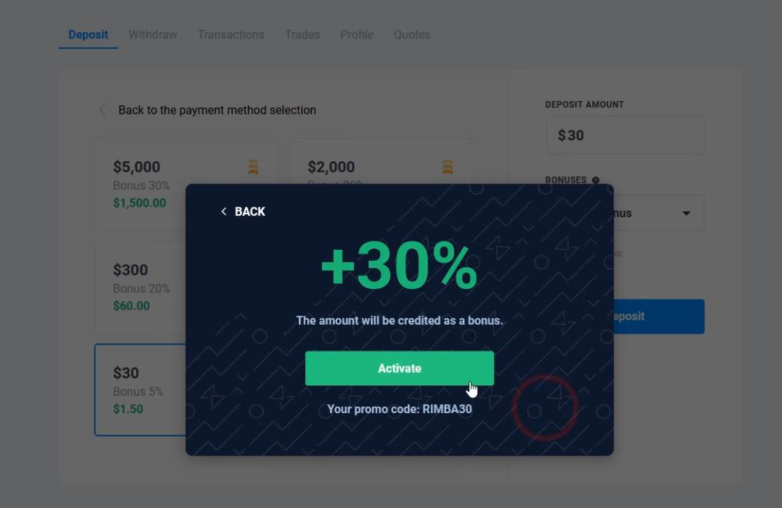 Code khuyến mãi 30% của Olymp Trade