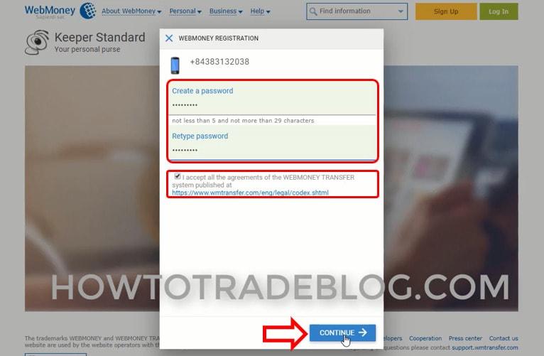 Tạo mật khẩu cho tài khoản Webmoney - Webmoney là gì