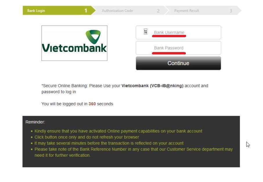 Faça login em sua conta de banco online