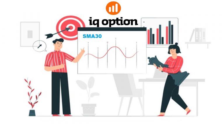 Cách Mở Lệnh Dài An Toàn Với Chỉ Báo SMA30 Tại IQ Option