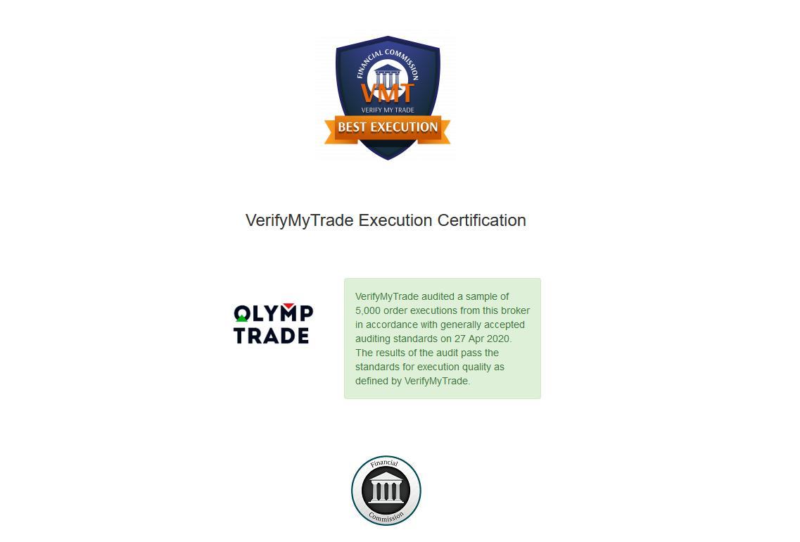 Bằng chứng chứng minh giá tài sản tại Olymp Trade chính xác