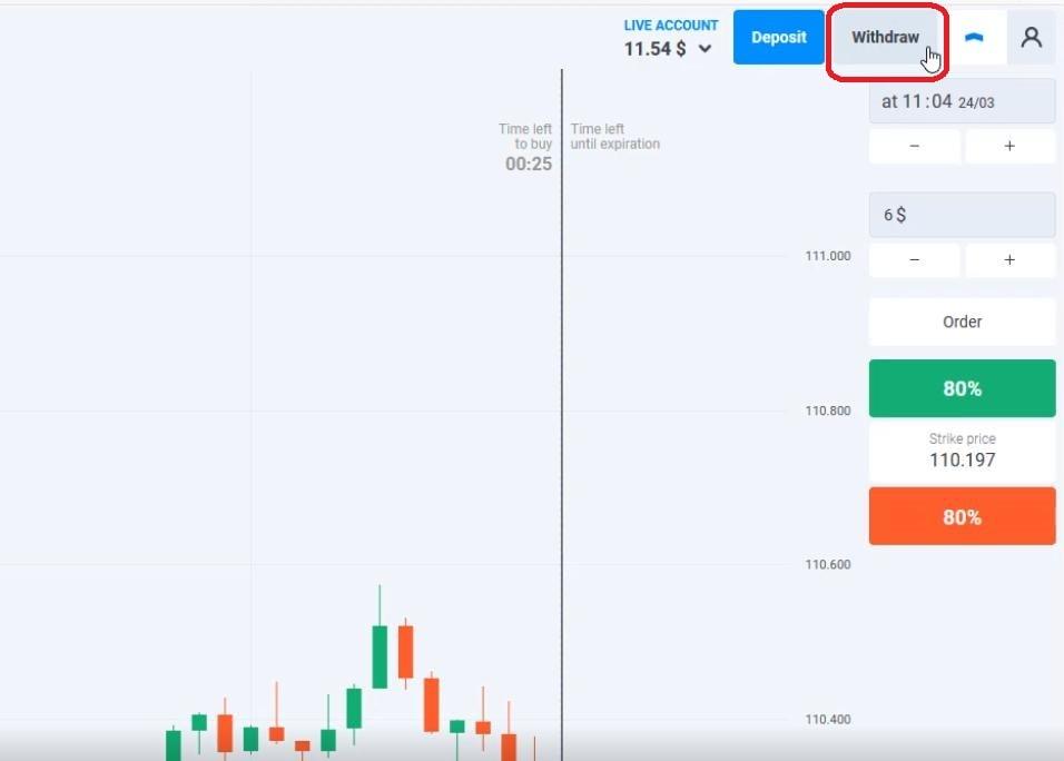 Cara menarik uang dari akun Olymp Trade
