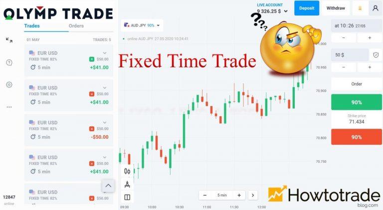 Fixed Time Trade Là Gì? Hướng Dẫn 2 Cách Chơi Fixed Time Tại Olymp Trade