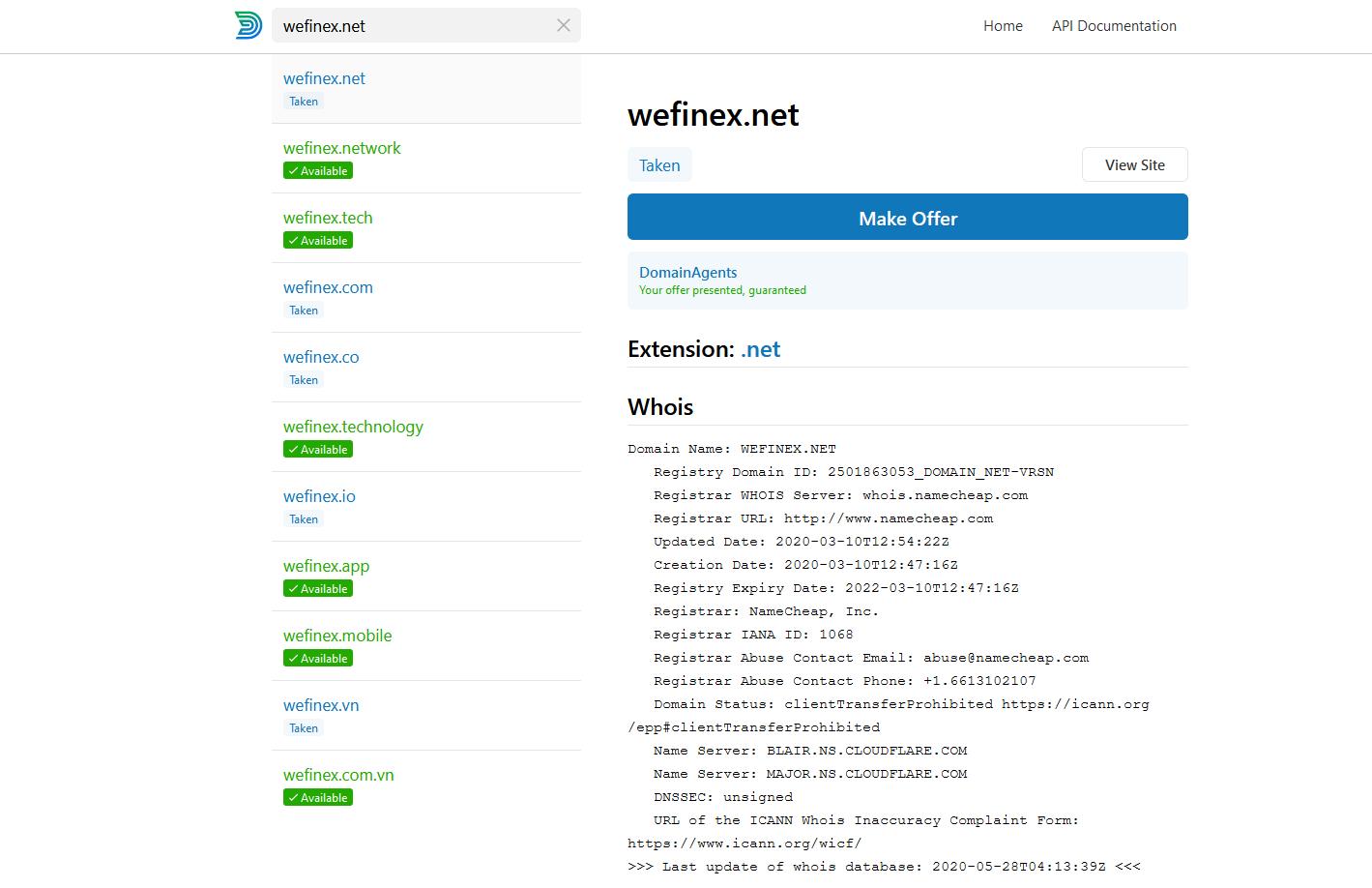 Check tên miền Wefinex - Wefinex là gì