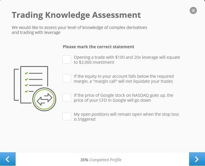 Test kiến thức giao dịch của nhà đầu tư