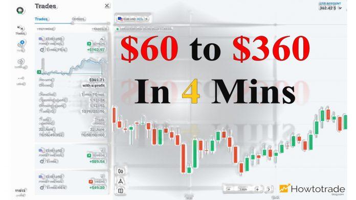 Hướng dẫn cách kiếm tiền nhanh nhất tại Olymp Trade: Lãi kép và 1 phút