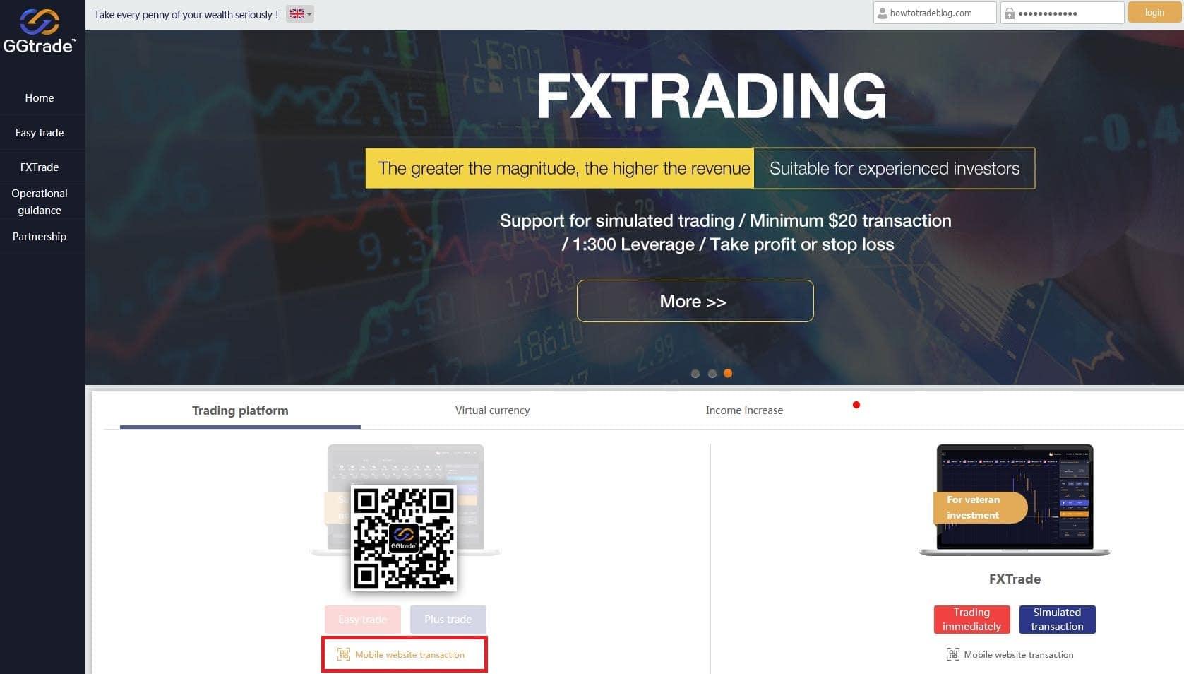 Quét mã QR để tải ứng dụng của sàn GGtrade