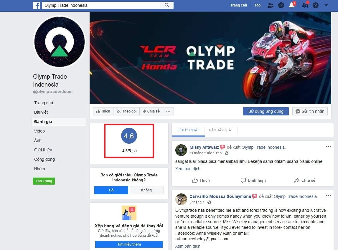 Indonesian Olymp Trade Community