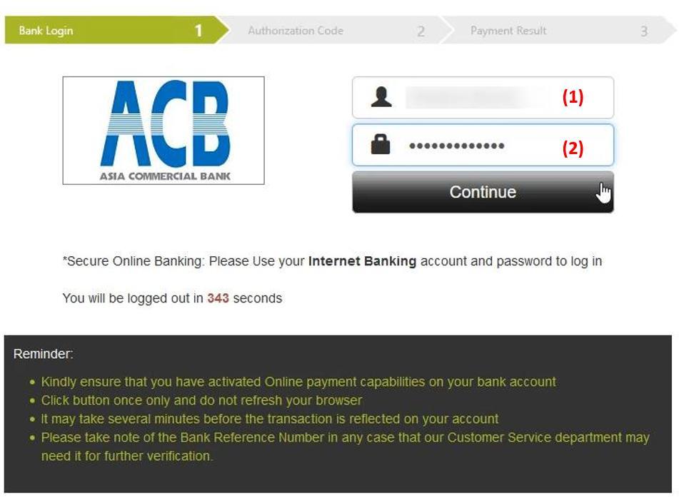 Login ke akun perbankan online Anda di IQ Option