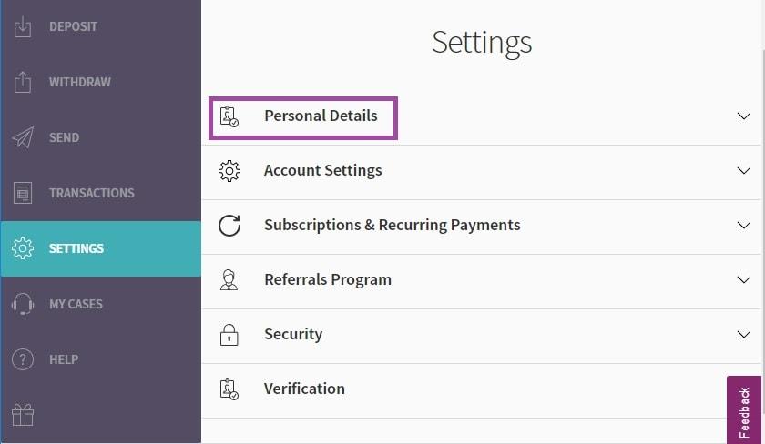 Verifikasi Skrill e-wallet di IQ Option