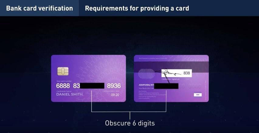 Verifikasi kartu bank di IQ Option