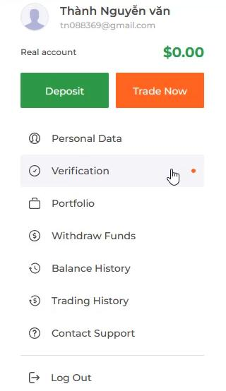 Verifikasi akun IQ Option Anda