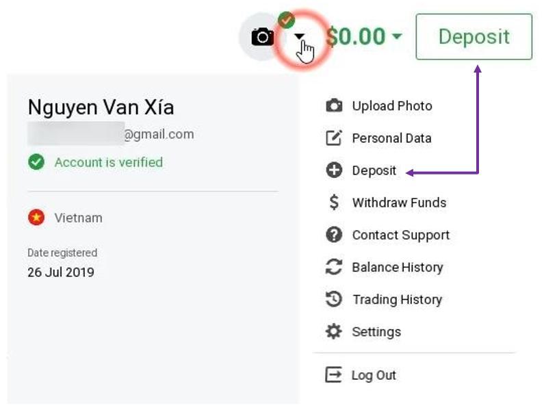 Cara deposit akun IQ Option