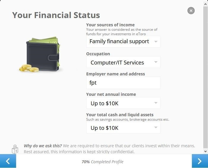 Your personal financial status