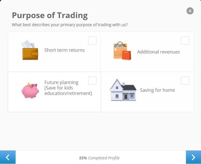 Investment purpose in Etoro