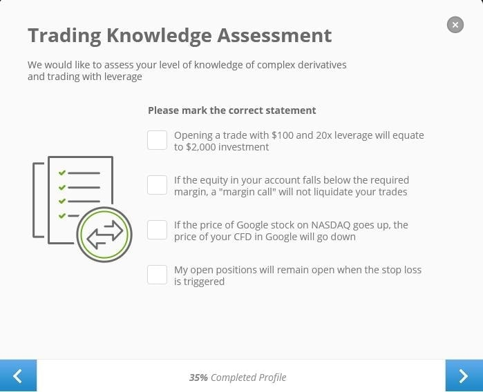 Test investors' trading knowledge