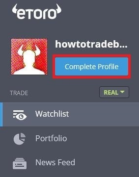 Update your Etoro account information