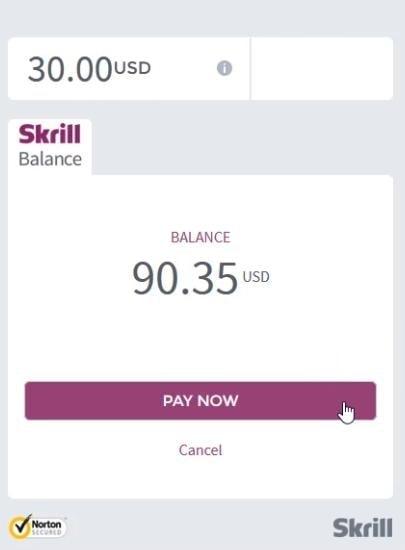 Klik Pay Now jika Anda setuju