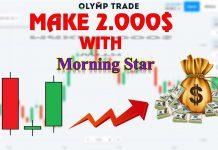 Kiếm Hơn 2.000 $/Tuần Tại Olymp Trade Với Mô Hình Nến Morning Star