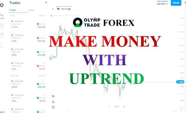 Cara Termudah Untuk Memperdagangkan Forex Di Olymp Trade: Tentukan Tren (Bagian 3/20)