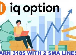 Earn $318 Of Profits With The Strategy Using Double SMAs In IQ Option