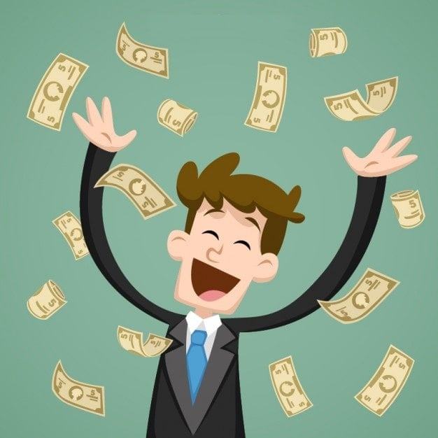 Kekayaan saat Anda sukses di pasar keuangan