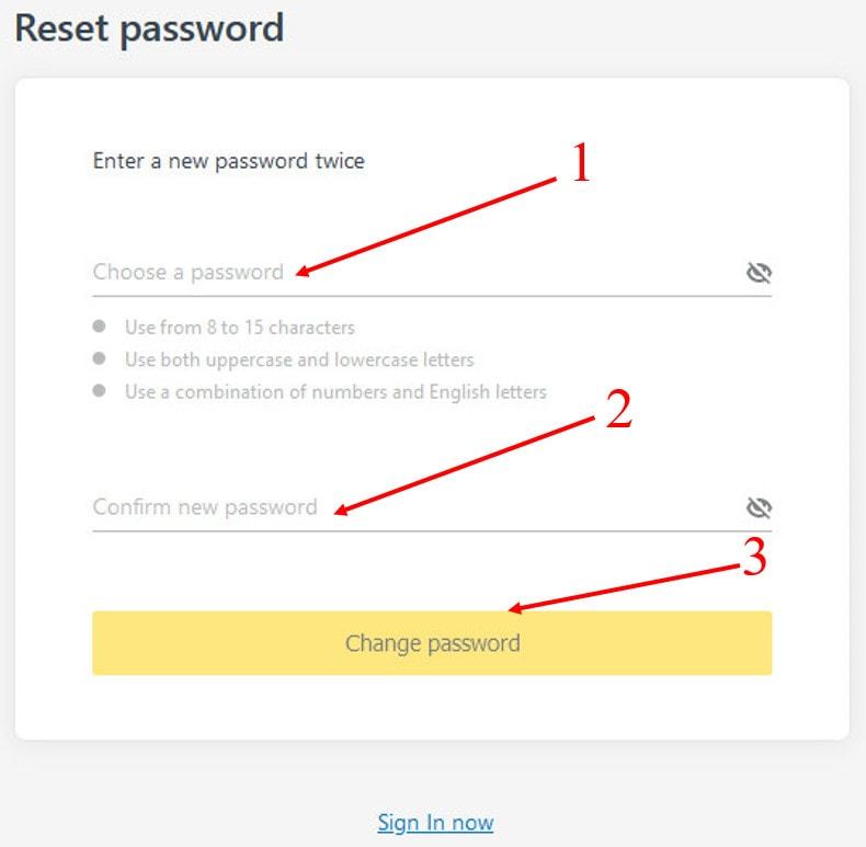 Xác nhận lại mật khẩu mới