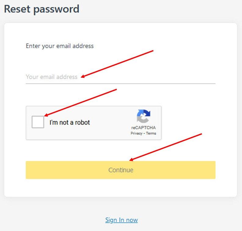 Request password tài khoản Exness