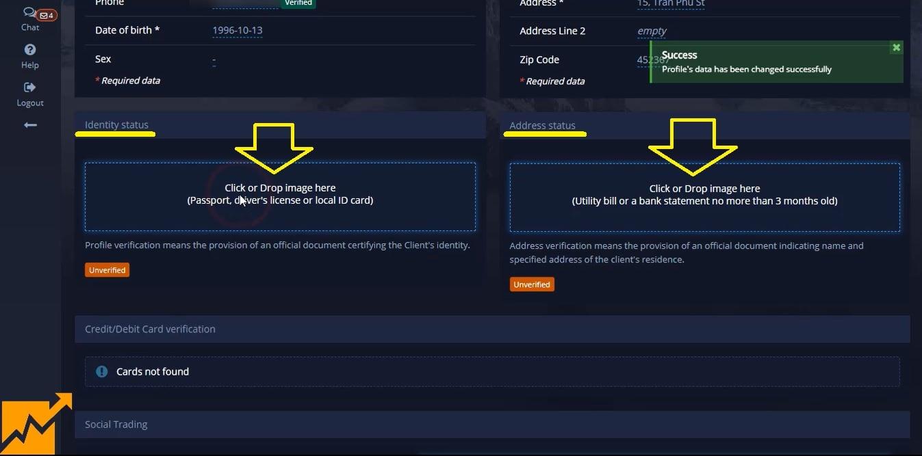 Hướng dẫn xác minh tài khoản Pocket Option chi tiết nhất