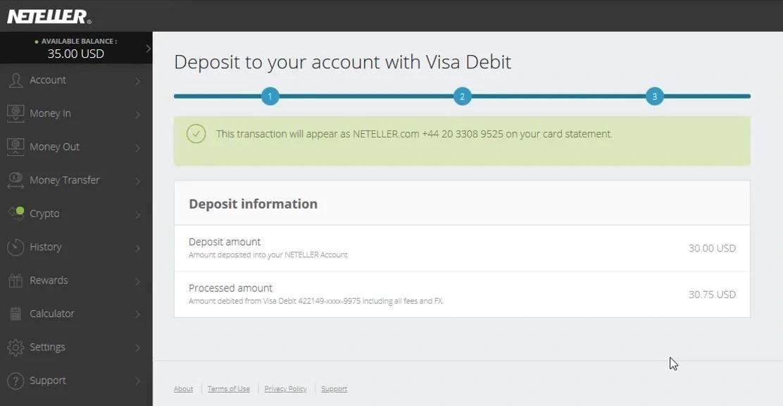 Periksa jumlah deposit