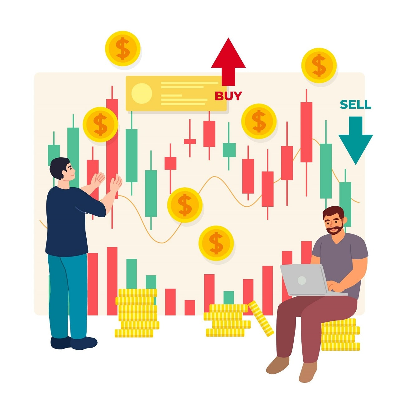 Kiếm tiền với cả thị trường giá lên và giá xuống