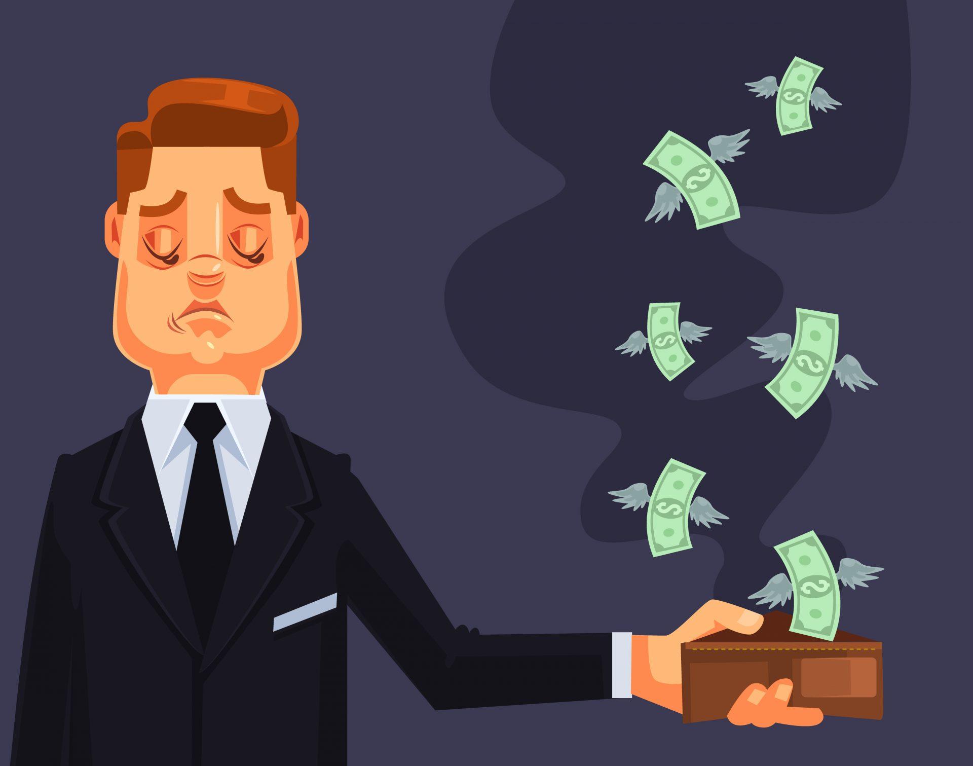 Perder dinheiro é ruim