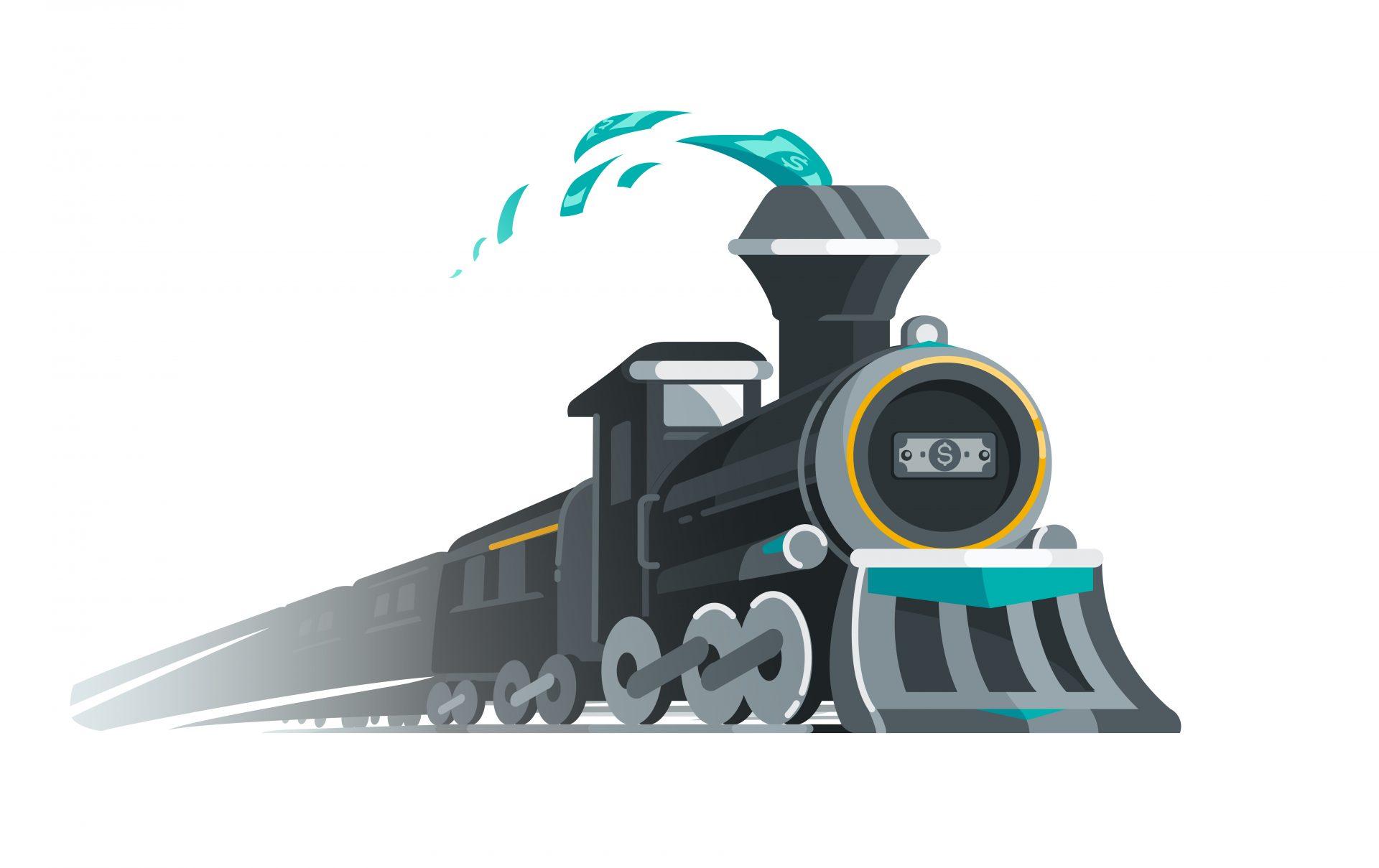 O primeiro fato é: é difícil parar um trem de carga