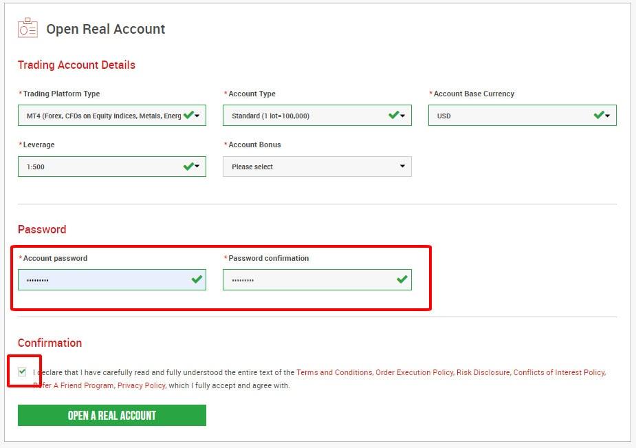 Thiết lập mật khẩu giao dịch cho tài khoản sàn XM